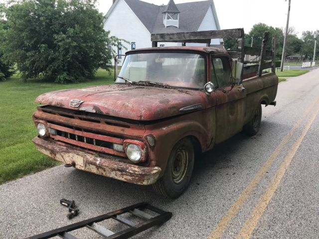 Ford F250 Parts >> 1961 Ford F250 Unibody Ford Pickup Truck For Parts Or