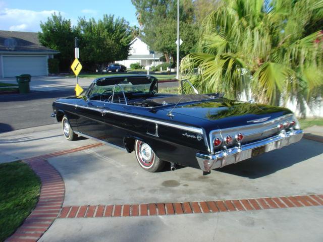 1962 chevy impala convertible black 1958 1959 1960 1961 1963 1964 1965 classic chevrolet. Black Bedroom Furniture Sets. Home Design Ideas