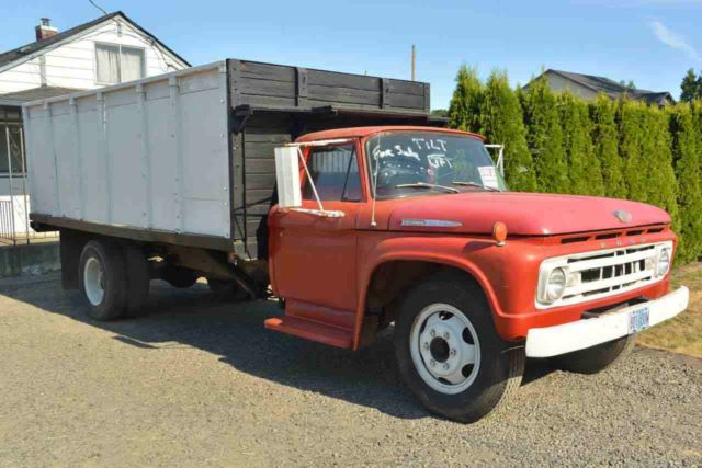 1962 ford f600 farm truck w hydraulic extended lift bed classic ford other 1962 for sale. Black Bedroom Furniture Sets. Home Design Ideas