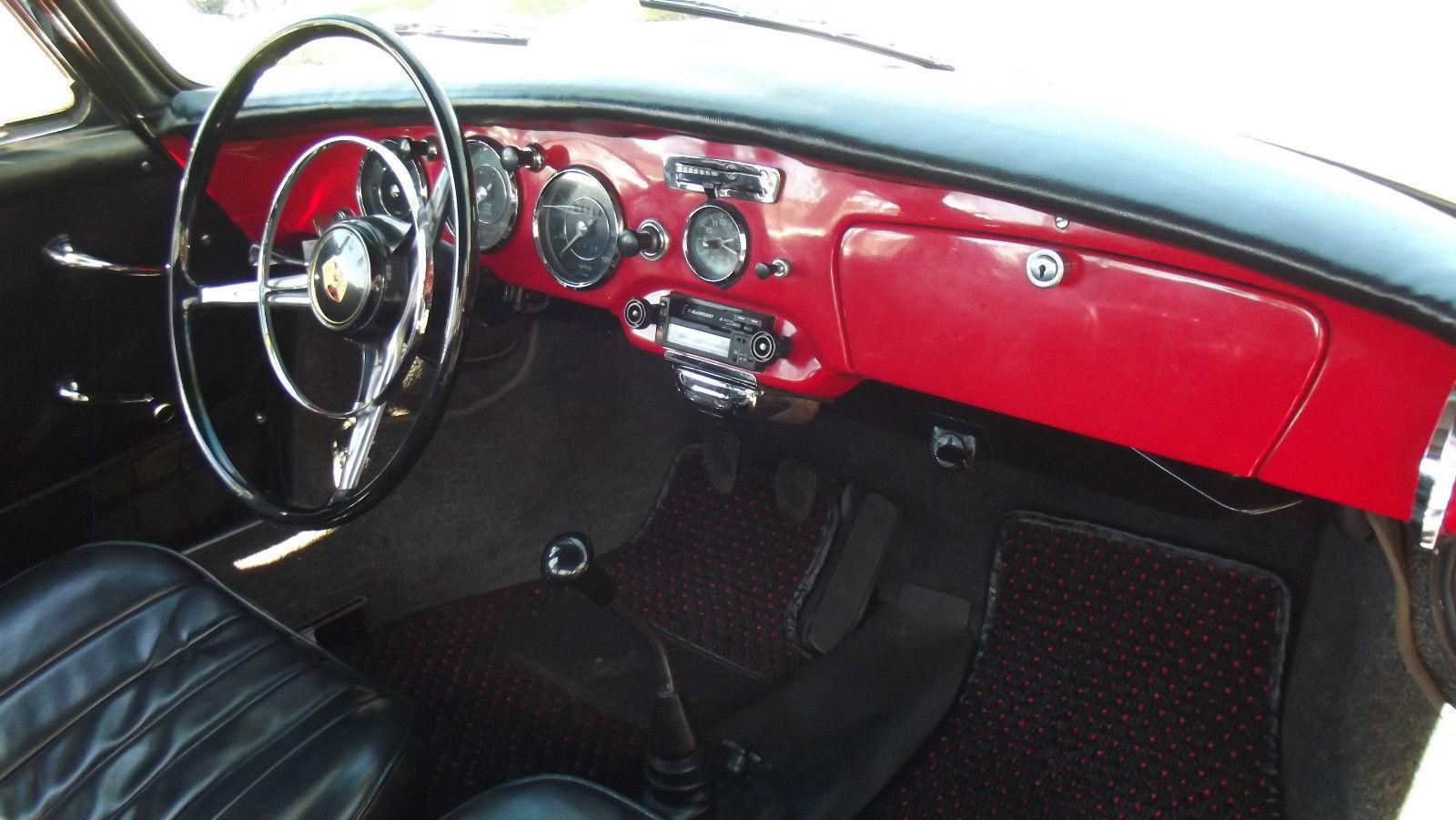 1962 porsche 356 b coupe red with black interior superb california car classic porsche 356. Black Bedroom Furniture Sets. Home Design Ideas