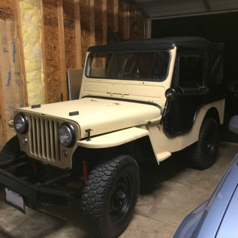 1962 Willys Jeep With Cj2a Body Dauntless V6 225 Motor