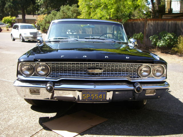1963 1 2 ford galaxie 500 raven black emaculate. Black Bedroom Furniture Sets. Home Design Ideas