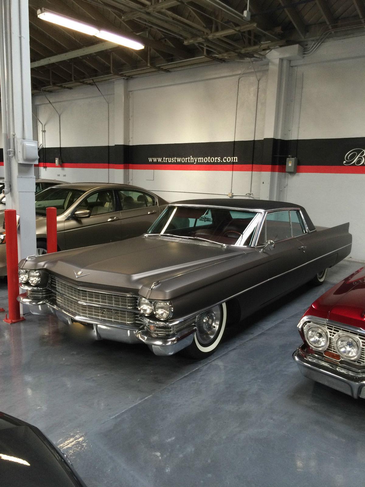 1963 Cadillac Coupe Deville Original 2 Door Coupe Silver
