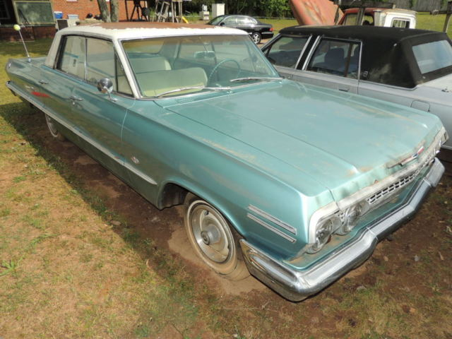 1963 chevrolet impala 4 door hardtop with rebuilt 327 classic chevrolet impala 1963 for sale. Black Bedroom Furniture Sets. Home Design Ideas