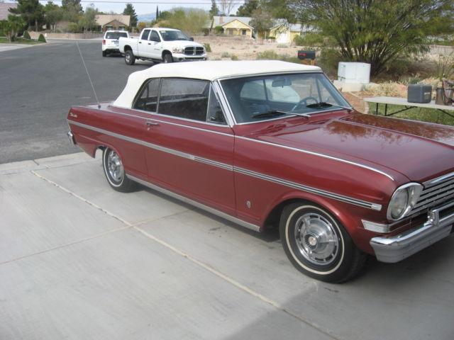 1963 Chevrolet Nova Chevy Ii Ss Convertible Drop Top