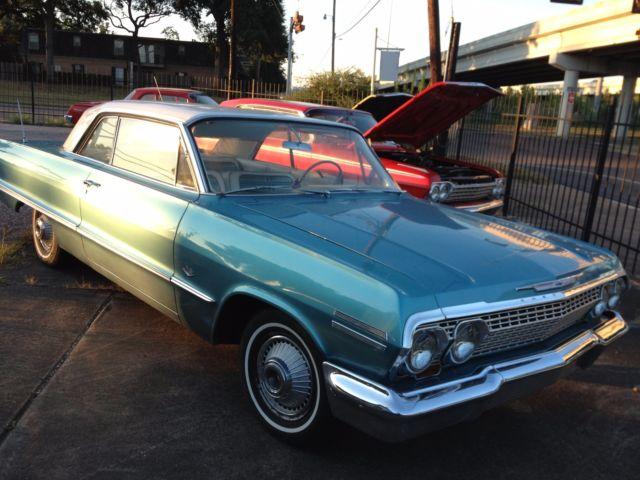 1963 chevy impala 2 door hardtop 327 300hp classic chevrolet impala 1963 for sale. Black Bedroom Furniture Sets. Home Design Ideas