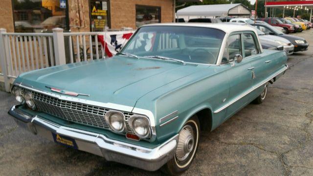1963 chevy impala 4 door sedan survivor classic chevrolet impala 1963 for sale. Black Bedroom Furniture Sets. Home Design Ideas