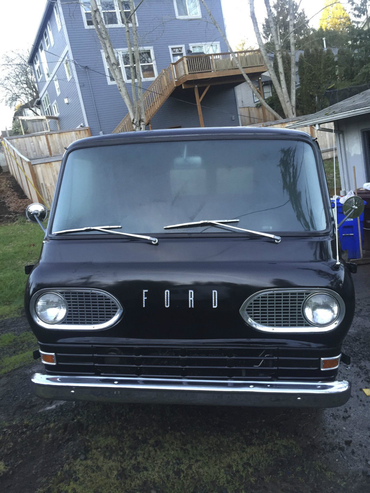 1963 Ford Econoline Van Black Panel Van Ground Up