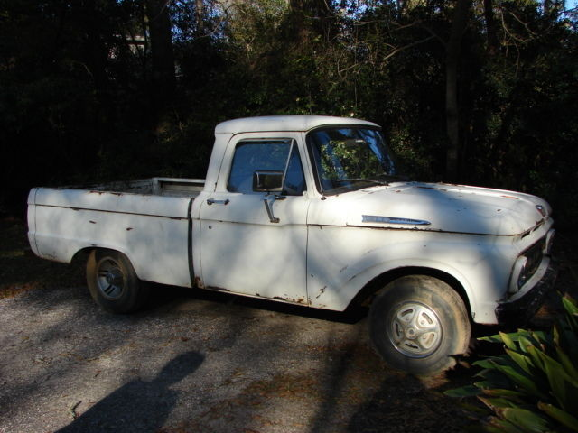 1963 ford f 100 short wheel base project truck classic. Black Bedroom Furniture Sets. Home Design Ideas