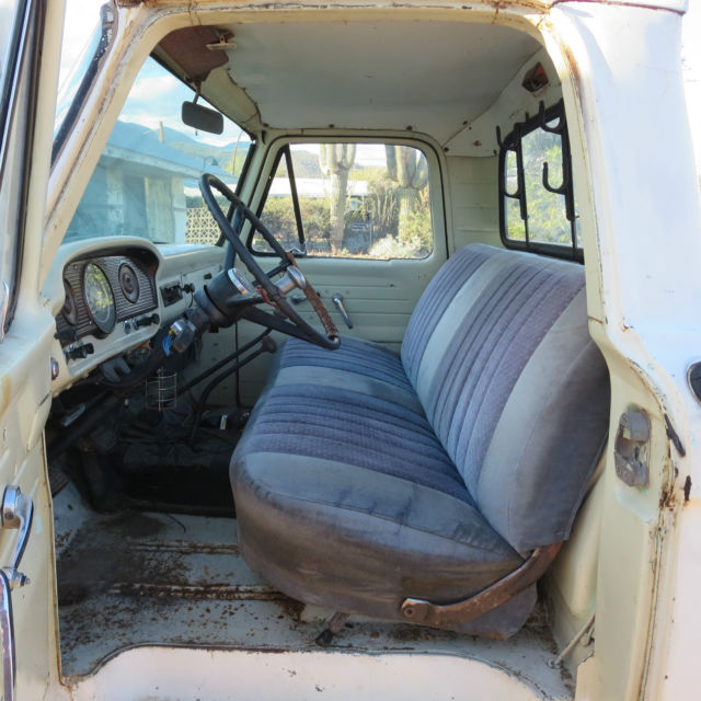1963 Ford F100 4x4 White Styleside Longbed 223 6cyl
