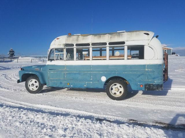1963 FORD SHORT VINTAGE RV MOTORHOME CAMPER SCHOOL BUS METRO WAGON