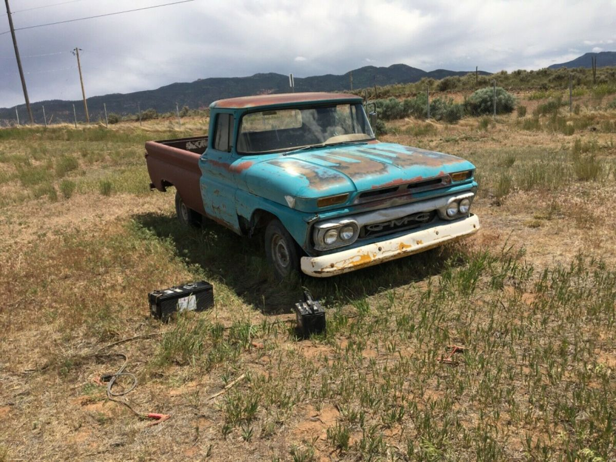 1963 Gmc Pickup Truck 305 V6 Engine Runs Great