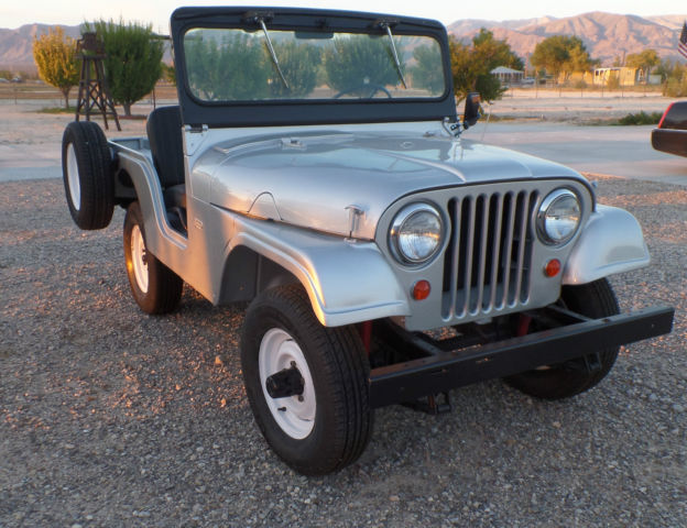Jeep Willys Cj Silver Like New Condition
