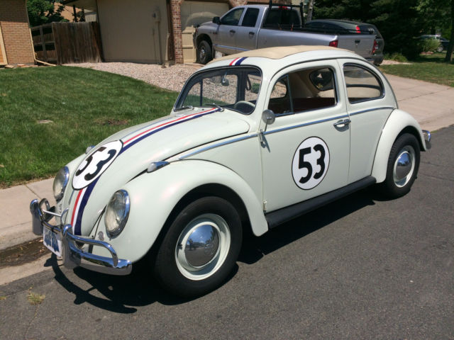 vw beetle herbie fully animatronic volkswagen love bug  car classic volkswagen