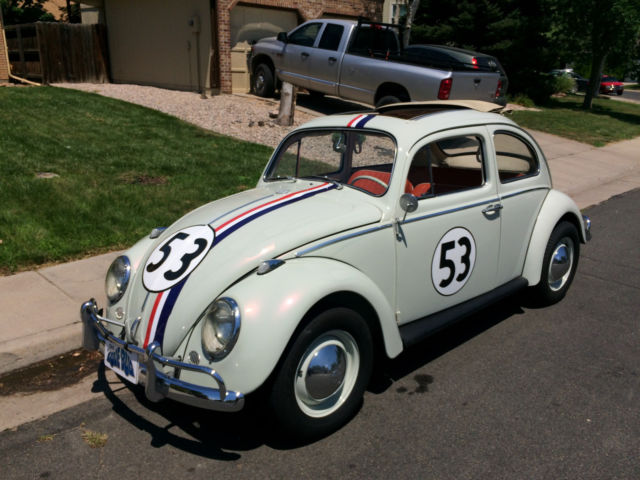1963 vw beetle herbie fully animatronic volkswagen love bug movie car classic volkswagen. Black Bedroom Furniture Sets. Home Design Ideas