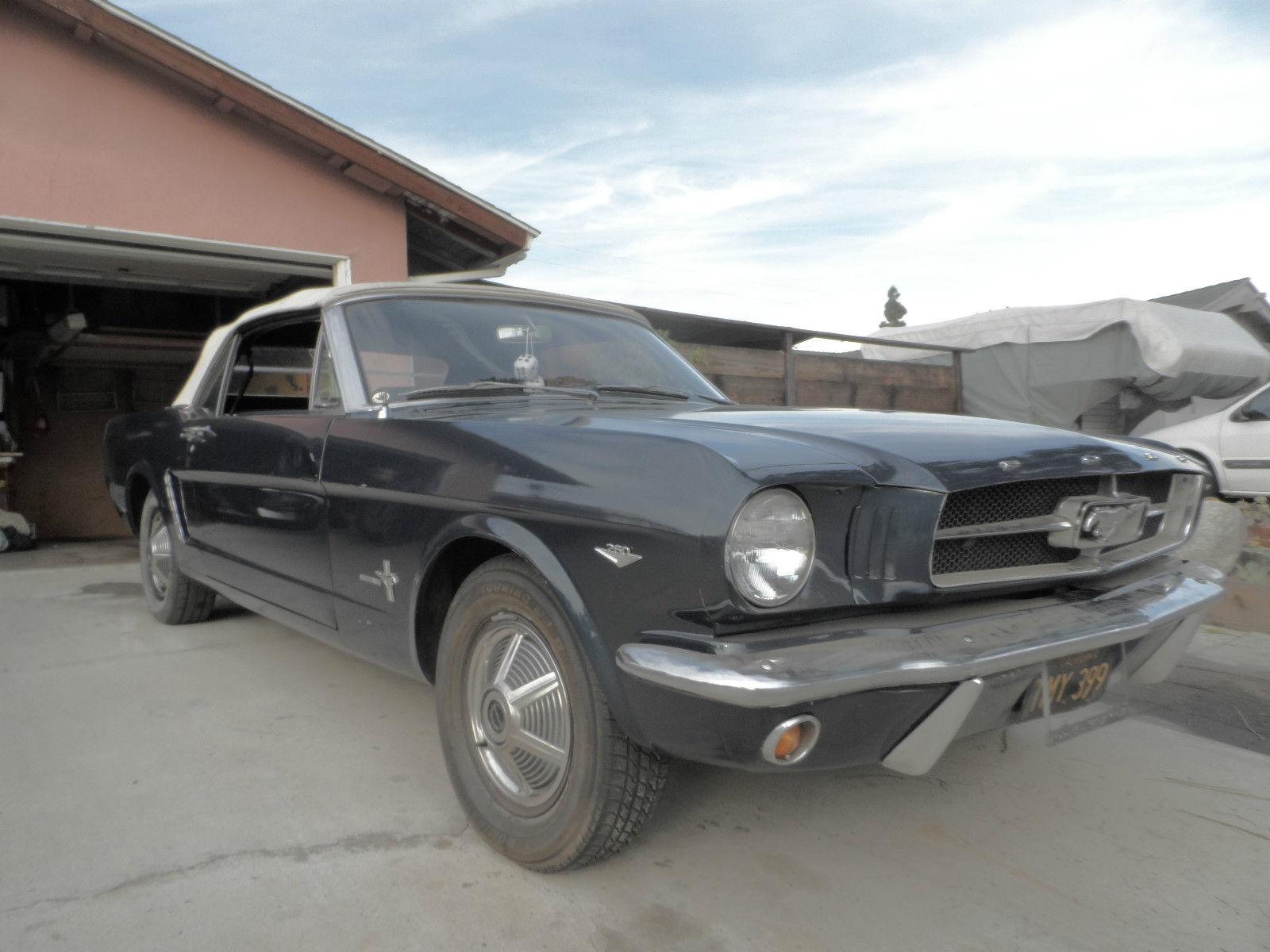 1964 1 2 Ford Mustang Convertible Rare 260 2v V 8 164hp 1965