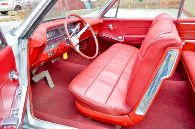 1964 Cadillac Deville Convertible No Reserve Silver Red Interior Cruiser Classic