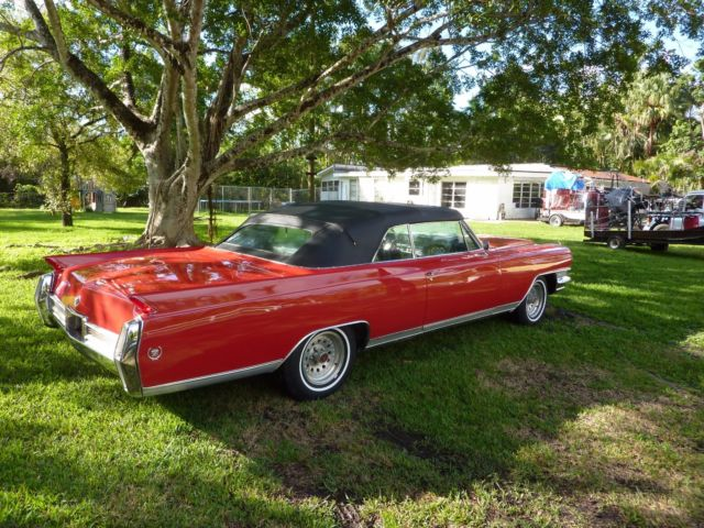 1964 cadillac eldorado convertible beautiful new red paint and black top classic cadillac. Black Bedroom Furniture Sets. Home Design Ideas
