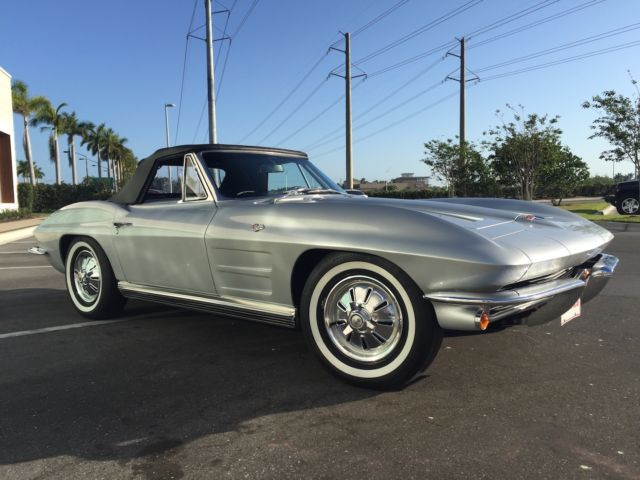 1964 Chevrolet Corvette Convertible Numbers Matching Silverblack