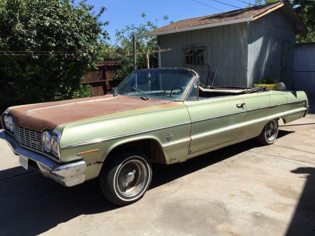 1964 Chevrolet Impala Convertible Barn Find Original 409 4