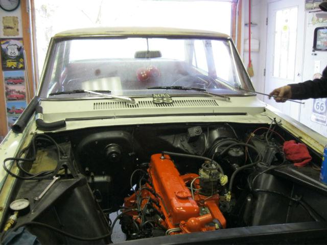 1964 Chevy Nova Ii 4 Door Sedan Rebuilt 194 Inline 6