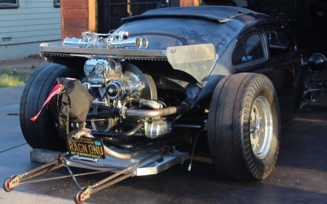 1964 CHOPPED VW BUG SUPERCHARGED 2332 WITH SIDE DRAFT WEBERS CHOPPED