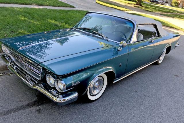 1964 chrysler 300 k convertible royal turquoise restored. Black Bedroom Furniture Sets. Home Design Ideas