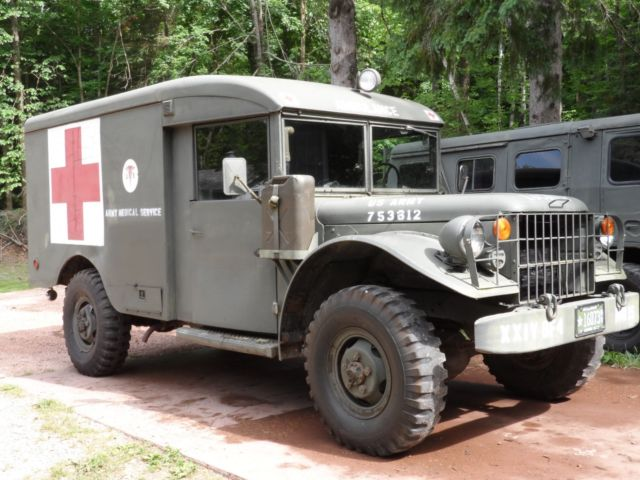 1964 DODGE POWER WAGON M43 MILITARY VEHICLE AMBULANCE