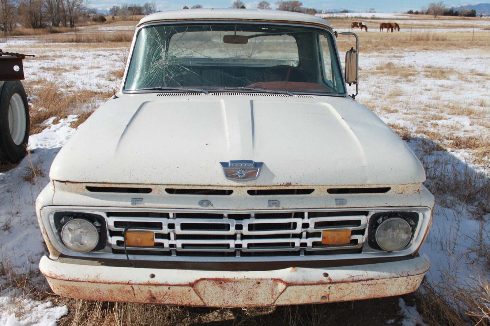 1964 ford f 100 short bed pick up truck vintage classic. Black Bedroom Furniture Sets. Home Design Ideas