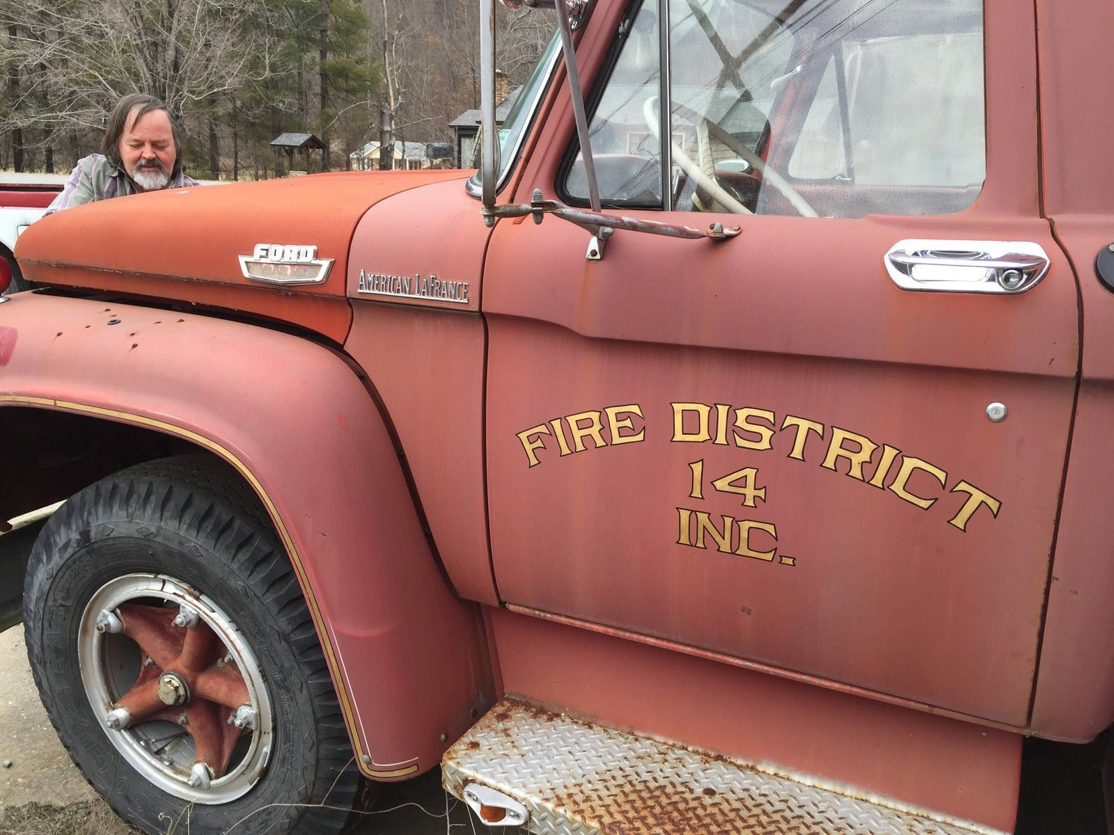 1964 Ford F800 American Lafrance Fire Truck Classic Other F250 4x4