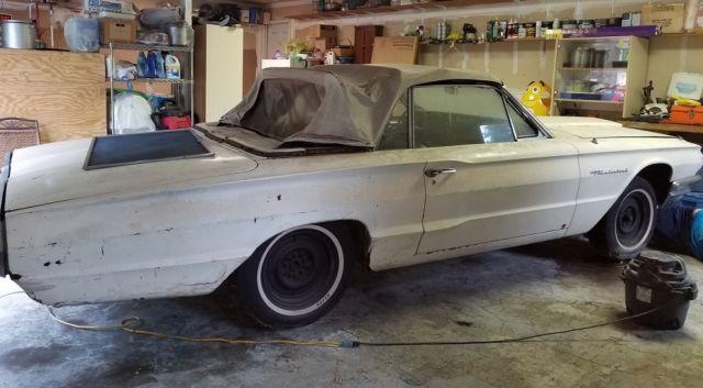 1964 ford thunderbird 2 door convertible runs extra parts garaged for 20 y. Black Bedroom Furniture Sets. Home Design Ideas