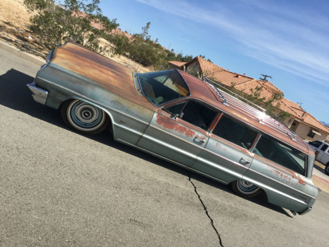 Impala Bel Air Wagon Bagged Patina Rat Rod Lowrider as well Imp a further Chevrolet Impala Trailmaster Spotlight also Passenger Side additionally Rear. on 1964 chevy impala battery