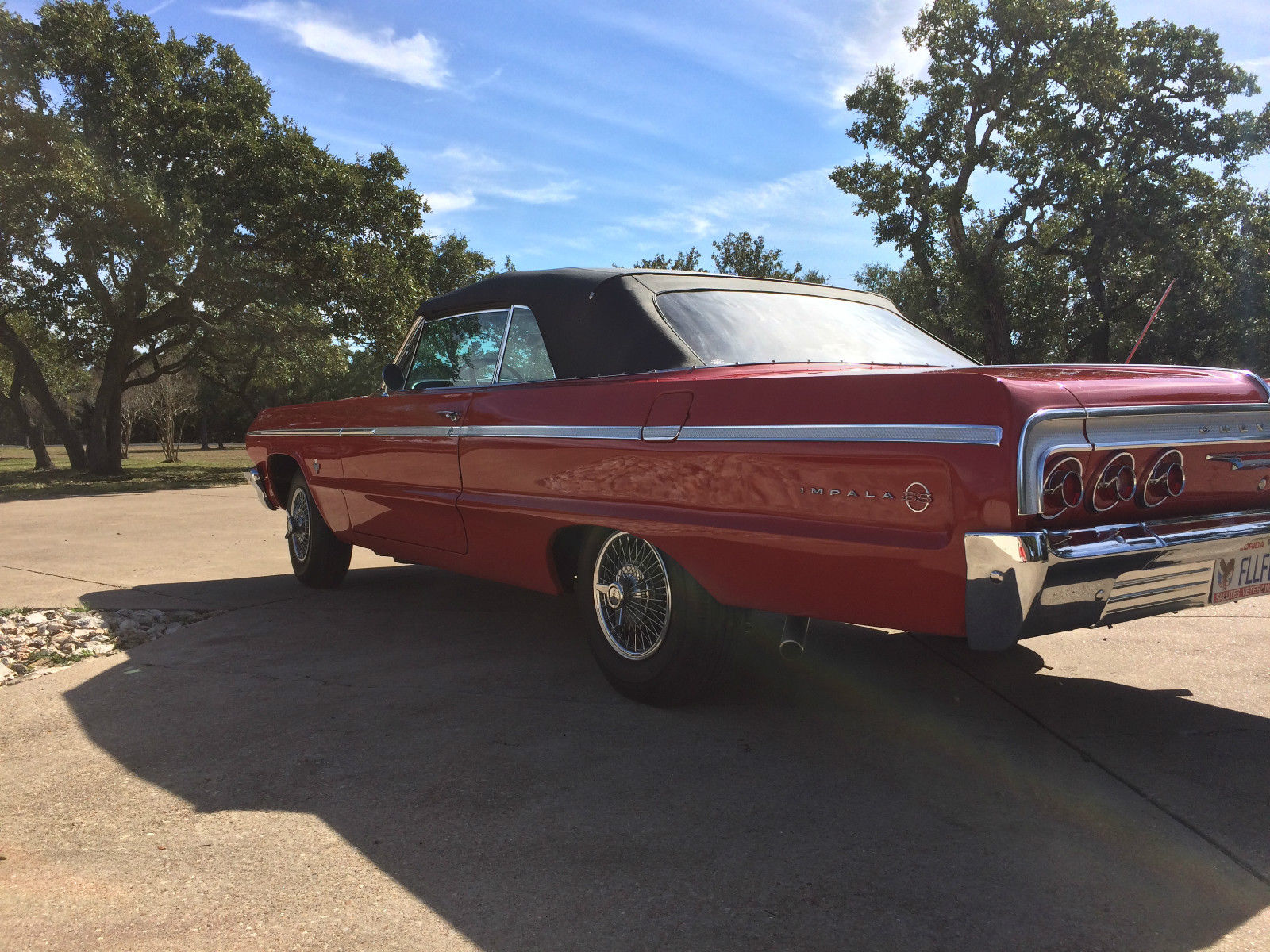 1964 impala ss convertible 409 red w new black power top classic chevrolet impala 1964 for sale. Black Bedroom Furniture Sets. Home Design Ideas