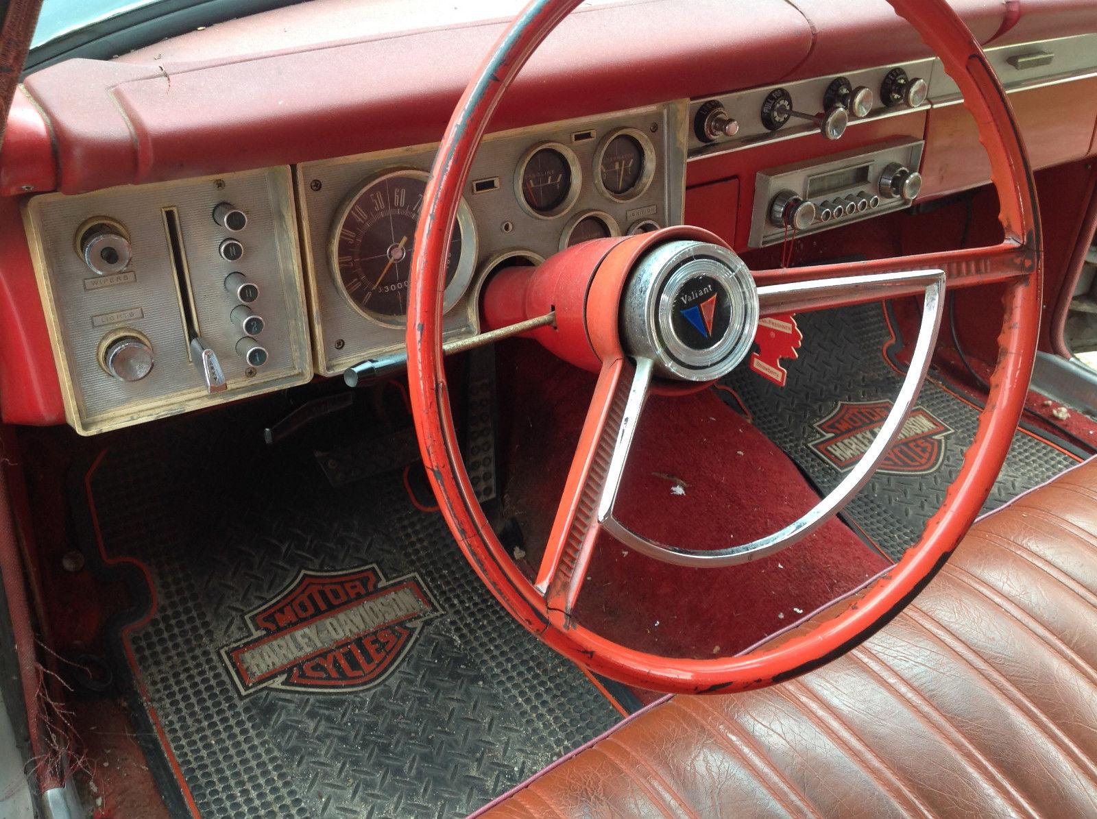 1964 Plymouth Valiant 200 3 7L runs great, no body rust, push button