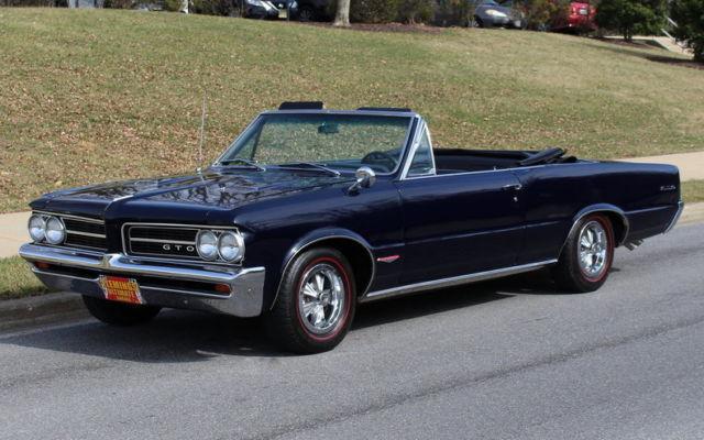 1964 pontiac gto cv blue 824p227567 stock   1975