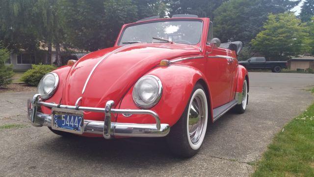 1964 poppy red vw beet...