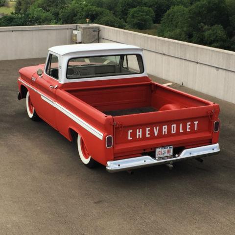 1965 chevrolet c10 short bed big window fleetside custom cab pickup truck classic. Black Bedroom Furniture Sets. Home Design Ideas