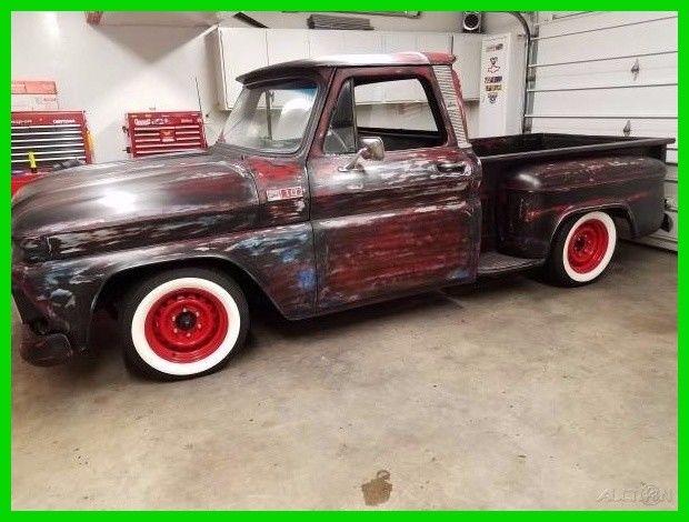 1965 chevrolet custom c10 350 v8 4 speed manual transmission rwd pickup truck classic. Black Bedroom Furniture Sets. Home Design Ideas