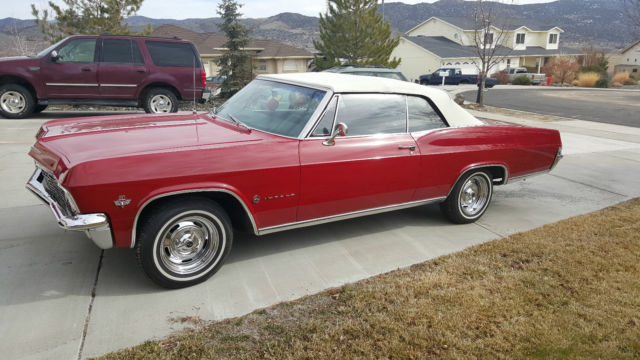 1965 Chevrolet Impala Convertible 327 Red Fully