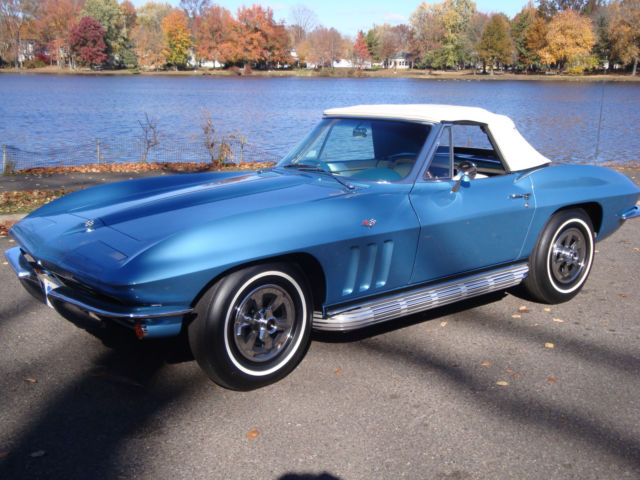 1965 Corvette For Sale >> 1965 Corvette convertible. Nassau Blue, white leather, L79 - Classic Chevrolet Corvette 1965 for ...