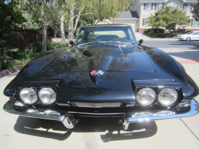 1965 Corvette Stingray muscle car Black w/ ghost flames ...