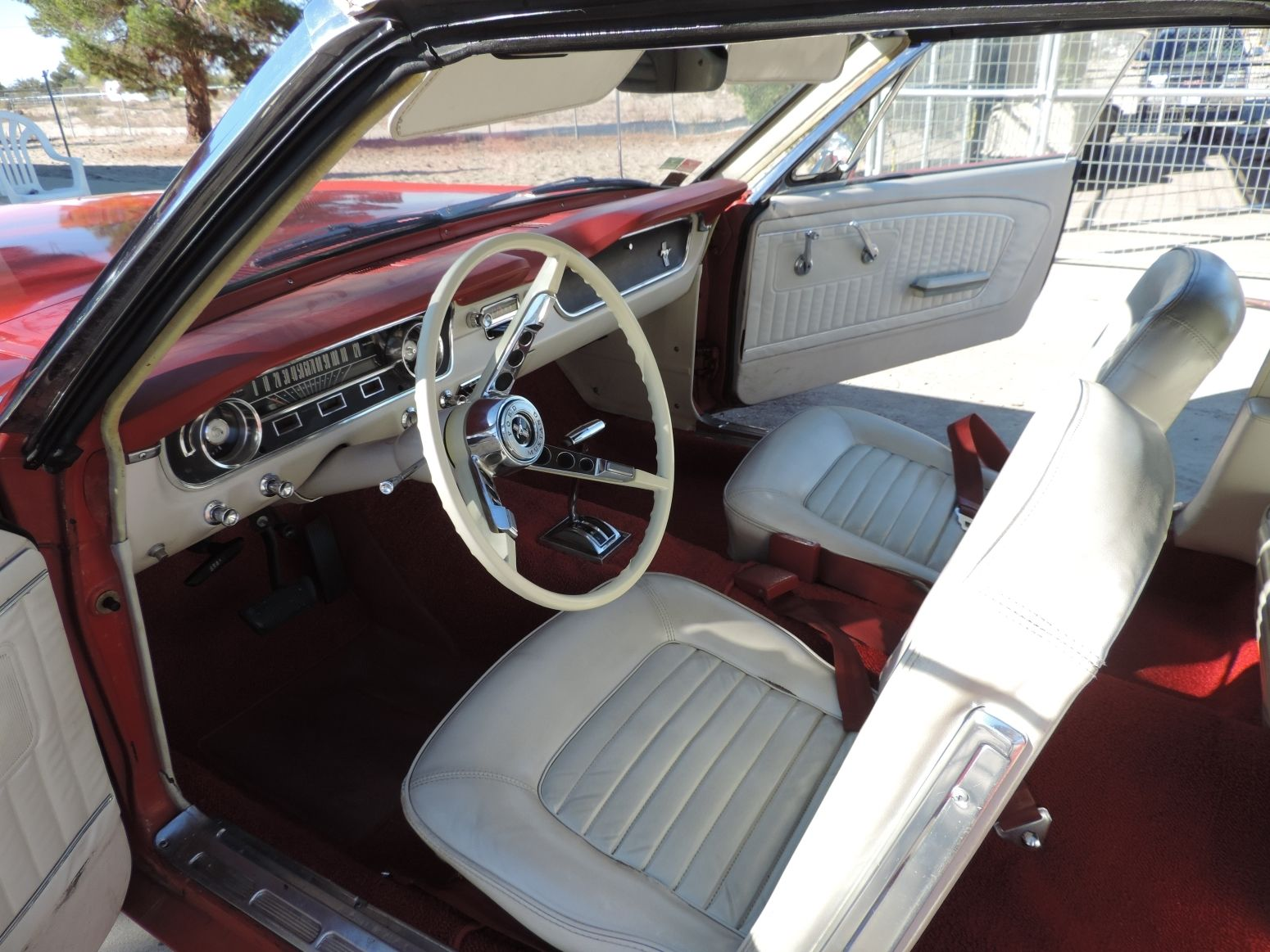 1965 Ford Mustang Convertible Red With White Interior 51k