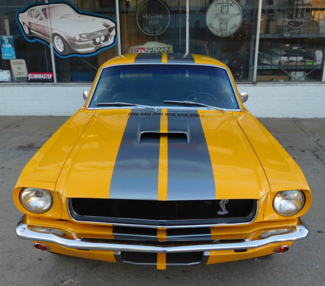 1965 ford mustang custom restomod screamin yellow w silver stripes restored classic ford