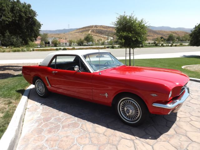 1965 Ford Mustang Wow Black Plate California Car No