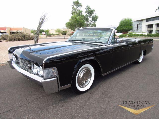 1965 lincoln continental convertible triple black. Black Bedroom Furniture Sets. Home Design Ideas