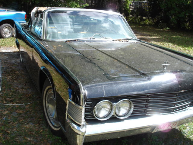 1965 lincoln continental convertible triple black unrestored classic lincoln continental. Black Bedroom Furniture Sets. Home Design Ideas
