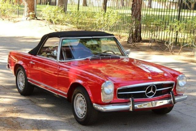 1965 mercedes benz 230sl pagoda 230sl pagoda ac 84688 for Mercedes benz red convertible