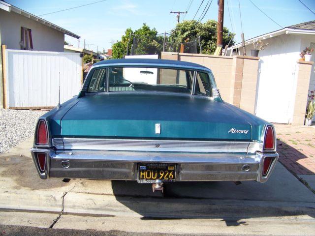 Northern California No Rust: 1965 Mercury Breezeway Park Lane Monterey Marauder 390 AC