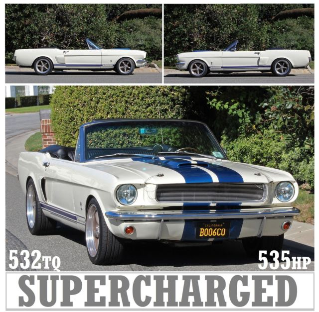 Ford Mustang Supercharged South Africa: 1965 MUSTANG CONVERTIBLE 347 STROKER SUPERCHARGED 5 SPEED