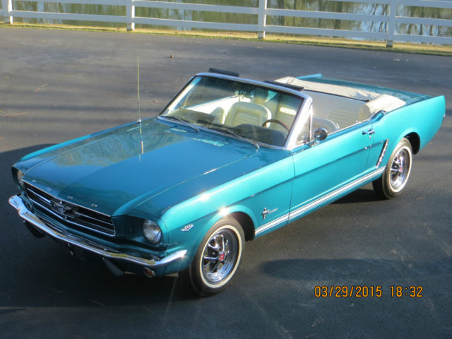 mustang 1965 green turquoise metallic ford convertible deep dynasty lilburn classic
